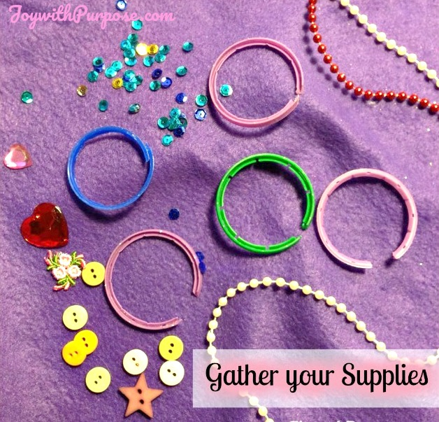 Gather your supplies to make a Barbie Headband