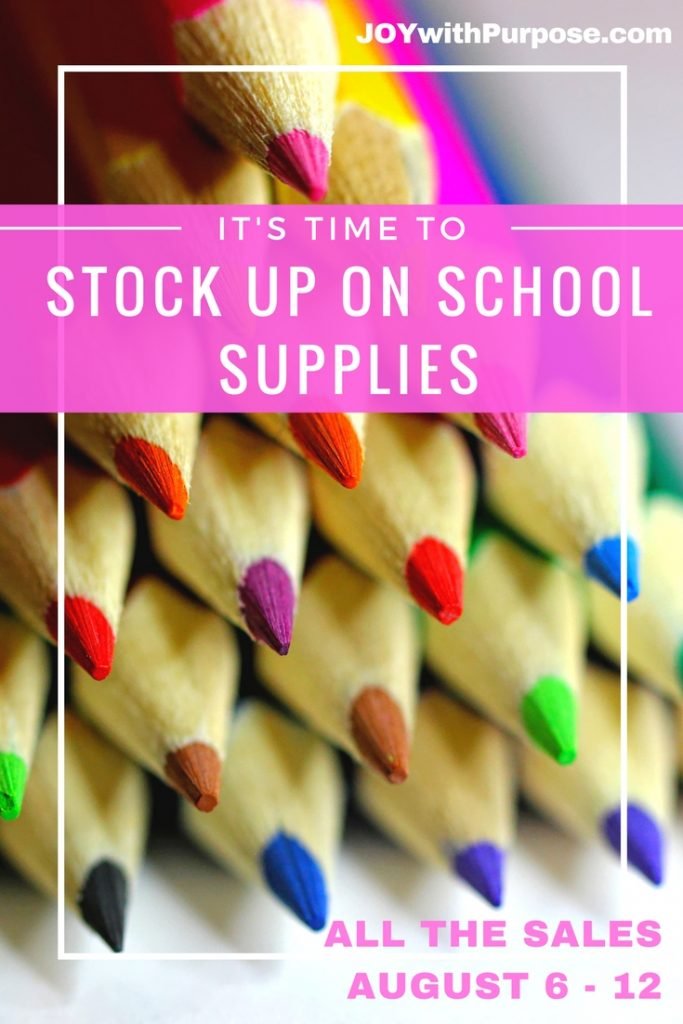 Stock Up on School Supplies sales for August