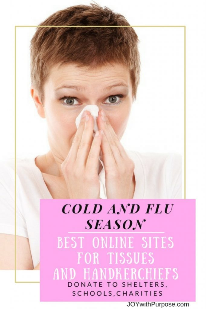 Cold and Flu Season Best online sites for tissues and handkerchiefs