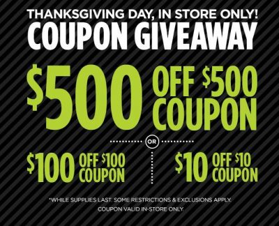 Best Black Friday Deals JCPenney Coupon Giveaway on Thanksgiving