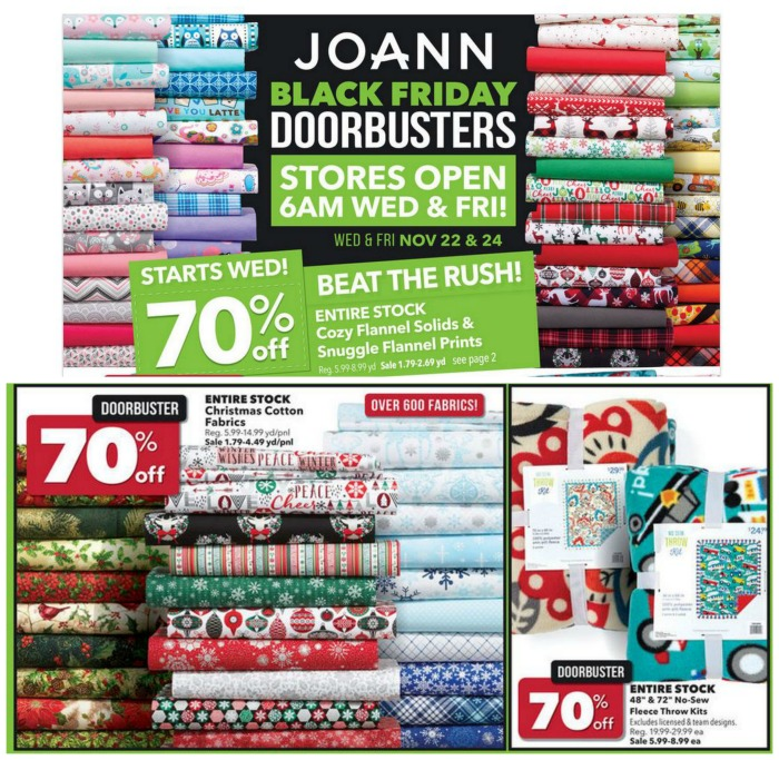 Top 10 Black Friday Deals - Joann Fabrics