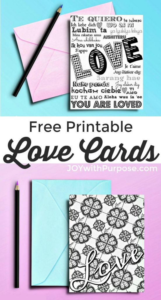Free Printable Love Cards Just for You