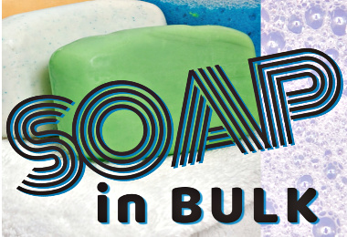 bars of soap and soap bubbles image from Soap in Bulk post