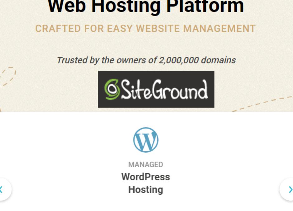 SiteGround網站架設虛擬主機介紹