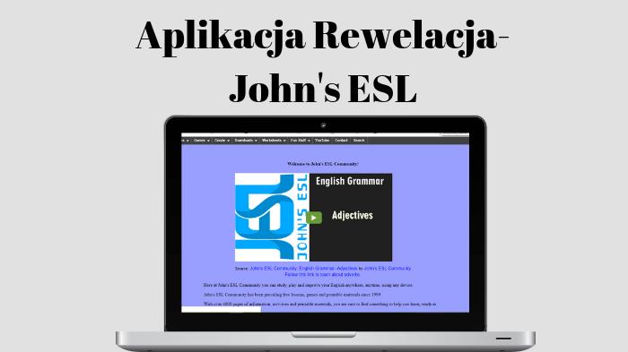 Aplikacja Rewelacja – John's ESL.
