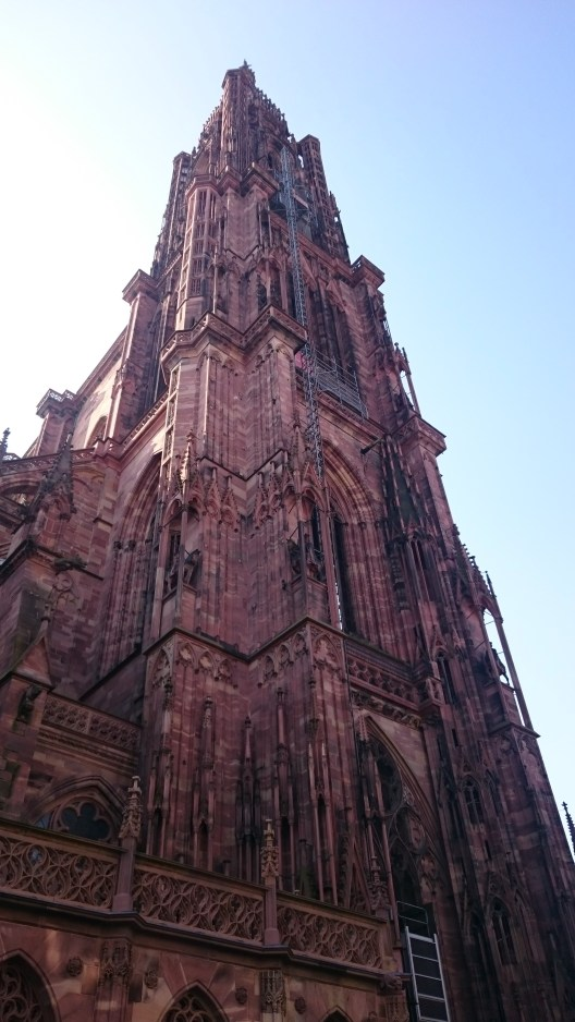 The cathedral in Strasbourg