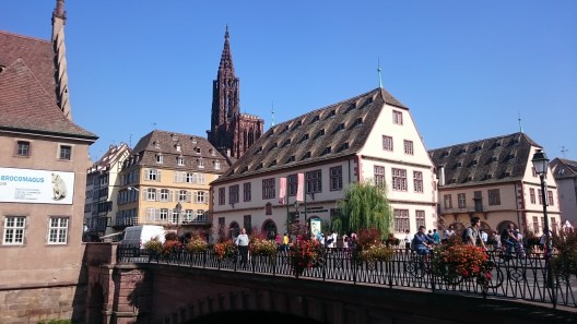 Looking to the Old Town in Straßburg