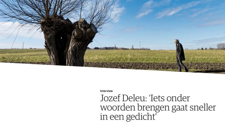 """""""Wat maakt het leven de moeite waard?"""" Jozef Deleu en Het Liegend Konijn in NRC"""