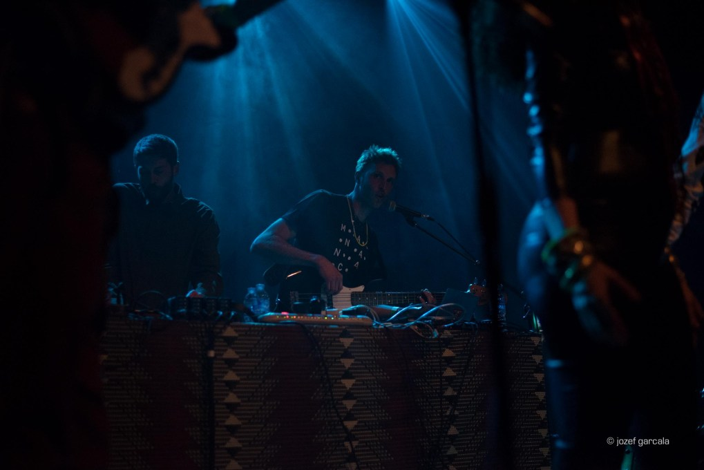 London based Producer/Musician/DJ brothers Henry and Oliver Keen known as Soundspecies performing at Como No festival at Village Underground, London , UK