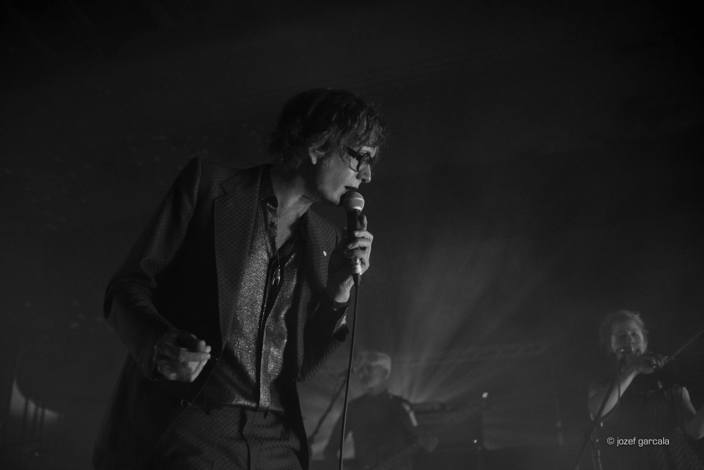 Legendary English musician and actor Jarvis Cocker onstage at EartH, London, UK