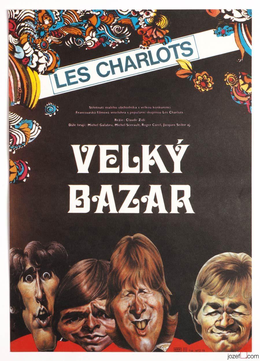 Le Grand Bazar Les Charlots : grand, bazar, charlots, Movie, Poster,, Grand, Bazar, Charlots,, 1980s, Cinema