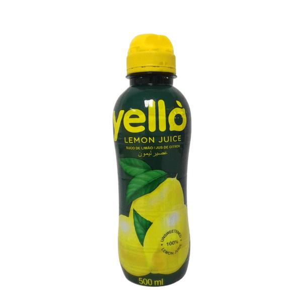 Y'ello Lemon juice 500ml x 12