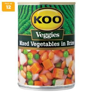 Koo Mixed Veg in Brine Sauce 410g x 12