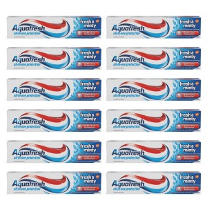 Aquafresh Fresh & Minty Toothpaste 100ml x 12
