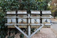 Delta park metal post boxes