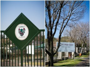 Crawford School and Church Sign Lonehill