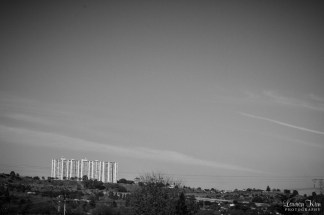 Black and white view of Johannesburg