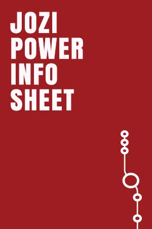 Jozi Power Info Sheet