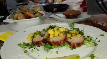 Team Fireflies' dish was the most visually appealling. I loved the freshness of the pineapple salsa served with grilled pork.