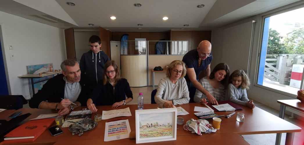 Atelier de dessin et d'aquarelle aux sables d'Olonne
