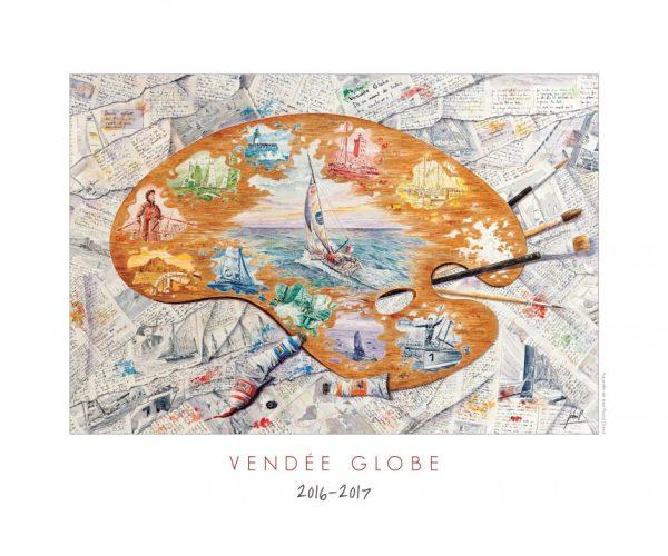 Affiche - Poster du Vendée Globe 2016-2017 Jean-Pascal Duboil