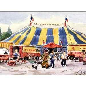 Circus ambiance - Aquarelle de JC Duboil