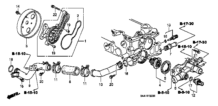 19504-PWA-000 / 19504PWA000 / PIPE COMP.A, CONNECTING