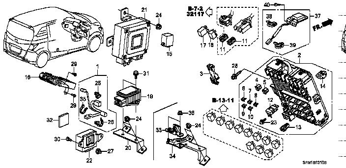 38221-SNA-A31 / 38221SNAA31 / FUSE, BLADE (7.5A) / FREED