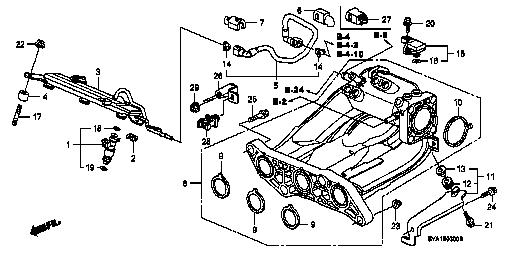 Intake Manifolds Replacement Parts Genuine Honda Intake