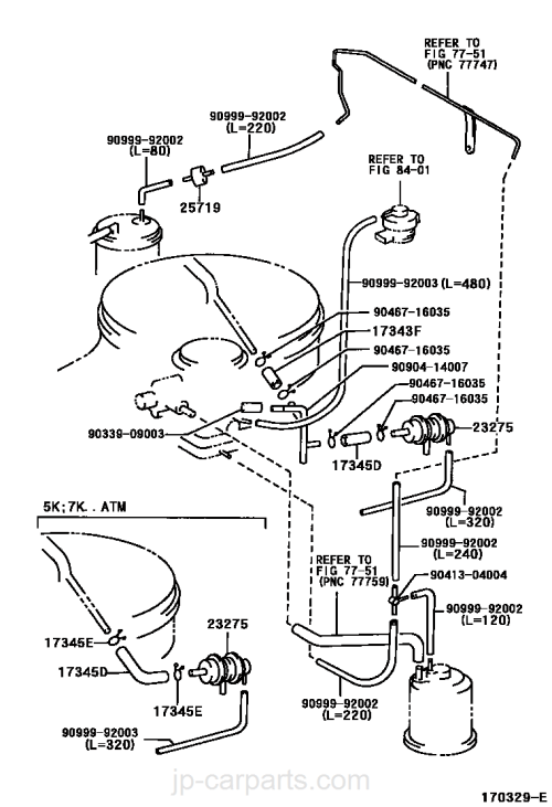 small resolution of vacuum piping toyota part list jp carparts com 2003 sonoma vacuum diagram picture vacuum toyota for diagram hoses engine kr42v
