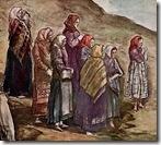 Рисунок «Женщины на рассвете молятся к востоку»