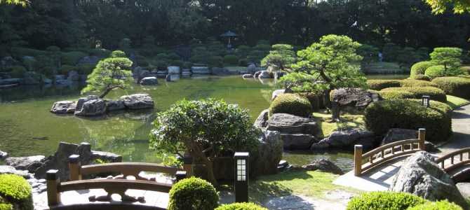 Let's relax in the traditional Japanese garden!  Ohori park Japanese garden.
