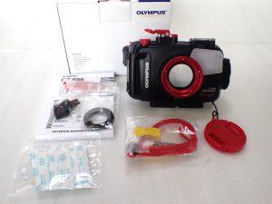 中古水中カメラ用品 OLYMPUS TG-4用防水プロテクターPT-056