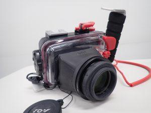 AOI UMG-01 PT-058用マグニファイヤー(視度調整機能付き)装着例