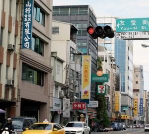 台湾・台南友愛街の街並み