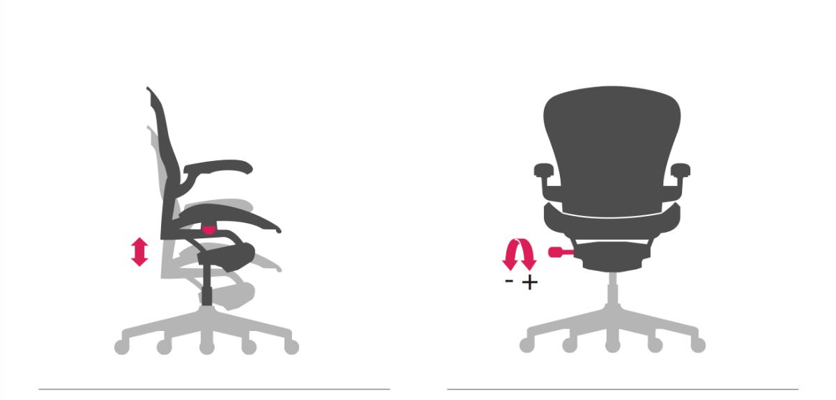 パソコン作業に快適な椅子とデスクの設定