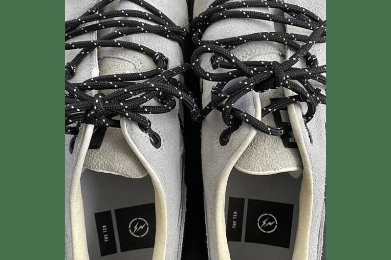 藤原ヒロシが 幻のナイキのサンプルを公開 Virgil Abloh(ヴァージル・アブロー)fragment design x Nike Air Max 1 Hiroshi Fujiwara Preview Sample First Look Teaser Instagram Upload The Ten Virgil Abloh Swoosh AM1 Technical Lacing System