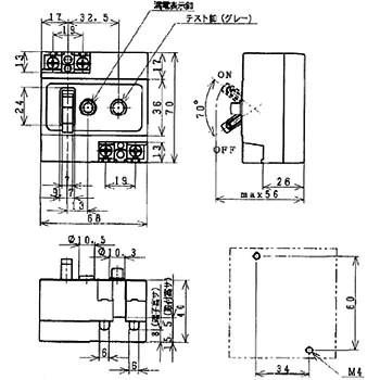 BJJ22022 漏電ブレーカ J型 JIS互換性形 1個 パナソニック(Panasonic) 【通販モノタロウ