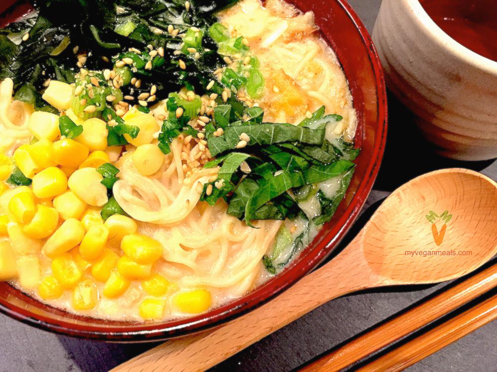 豆腐にんにくラーメン(ビーガン・グルテンフリー)