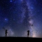 星空と子供
