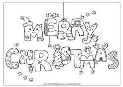 preschool christmas coloring pages # 10