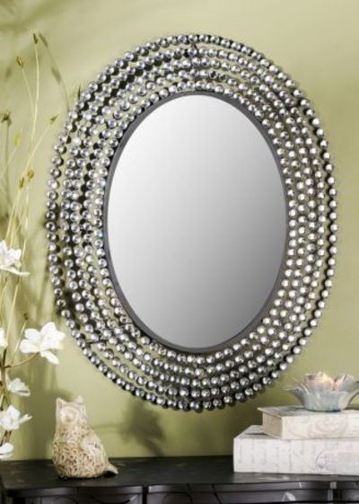 Kirklands Jeweled Bling Oval Mirror 10999  perfect for