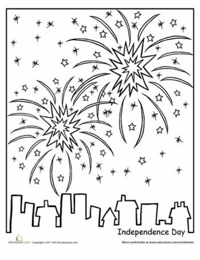 Worksheets: Independence Day Coloring Page / Preschool