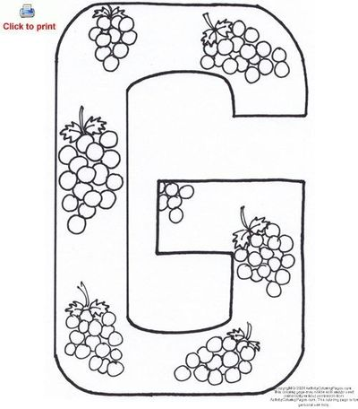 Letter G Activity Coloring Page Printable / Preschool