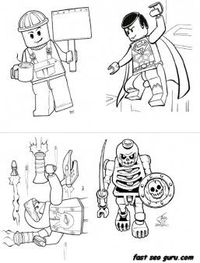 Free Print out lego super heroes coloring page for boy