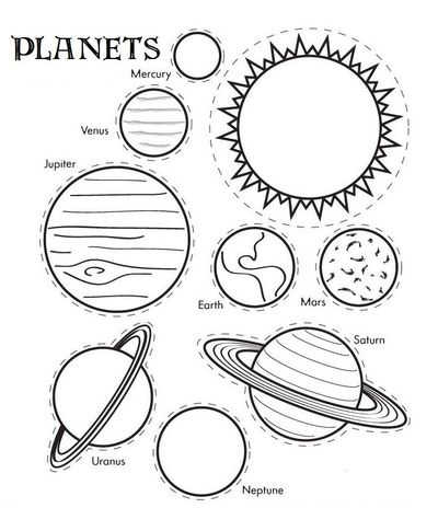 Coloring-Pages-of-Planets-Cut-Out-Templates / Preschool