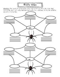 ~8 cute spider web graphic organizers~Set includes 4 of