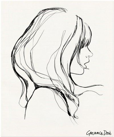 Girl with bangs by Garance Dore. #french #illustration #
