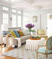 Living room with teal accents / For the home - Juxtapost