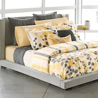 Gray, Yellow, & White Bedding / For the bedroom - Juxtapost